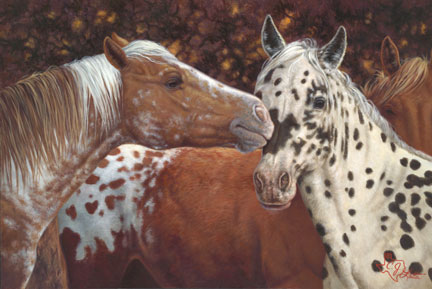 Painting Horse kisses